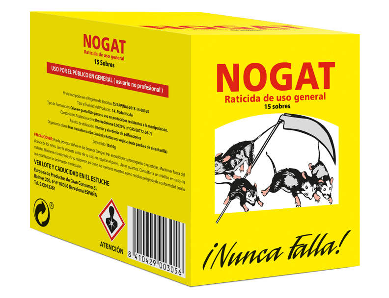 Nogat Rodenticide in sachets